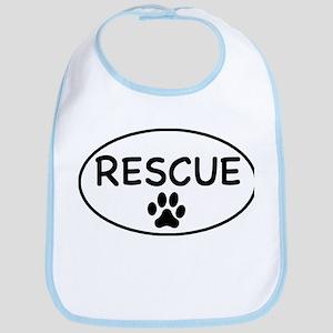 Rescue White Oval Bib
