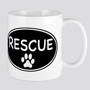 Rescue Black Oval Mug