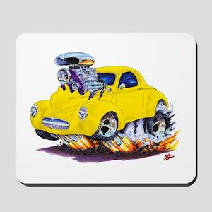 1941 Willys Yellow Car Mousepad