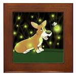 Firefly Corgi Framed Tile