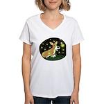 Firefly Corgi Women's V-Neck T-Shirt