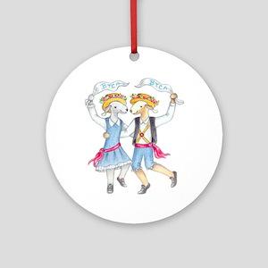 Dancing Bedlies-Folk Ornament (Round)