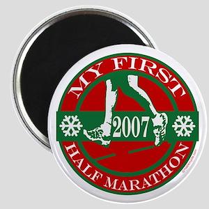 My First Half Marathon - 2007 Magnet