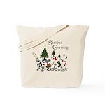 Season's Greeting Reusable Gift Tote Bag