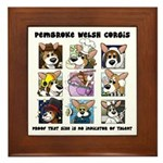 Talented Corgi Framed Tile
