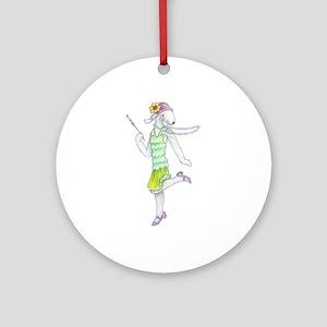 Dancing Bedlies-Flapper Ornament (Round)