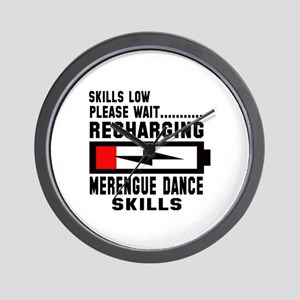 Please Wait Recharging Merengue dance s Wall Clock