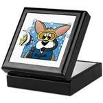 Scuba Diving Corgi Keepsake Box