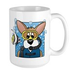 Scuba Diving Corgi Large Mug