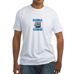 Scuba Diving Corgi Fitted T-Shirt