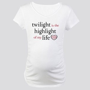 """""""Twilight is the Highlight"""" Maternity T-Shirt"""