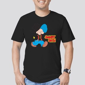 Snuffy Smith Walking Men's Fitted T-Shirt (dark)