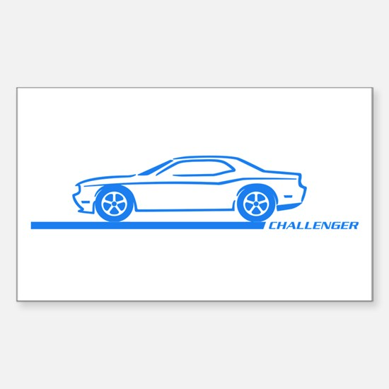 2008-10 Challenger Blue Car Rectangle Decal