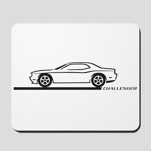 2008-10 Challenger Black Car Mousepad