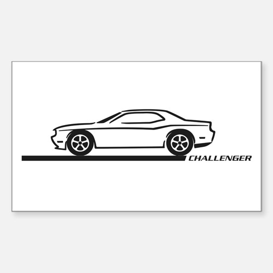 2008-10 Challenger Black Car Rectangle Decal
