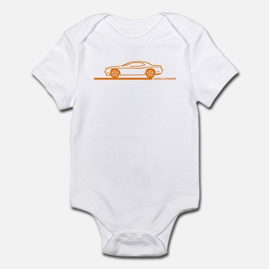 2008-10 Challenger Orange Car Infant Bodysuit