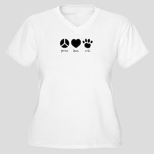 COOL CAT Women's Plus Size V-Neck T-Shirt