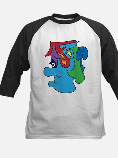 Abstract Plain Kids Baseball Jersey