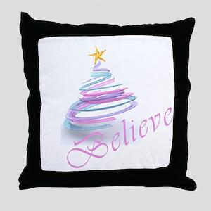 Believe 3D Throw Pillow