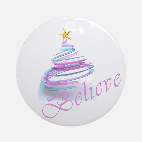 Believe 3D Ornament (Round)