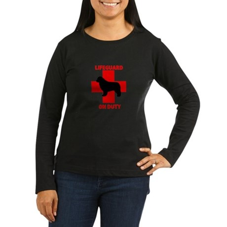 Newfoundland Dog Water Rescue Women's Long Sleeve