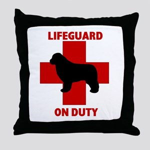 Newfoundland Dog Water Rescue Throw Pillow