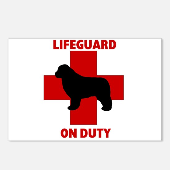 Newfoundland Dog Water Rescue Postcards (Package o