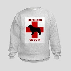 Newfoundland Dog Water Rescue Kids Sweatshirt