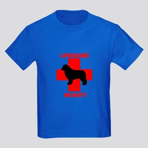 Newfoundland Dog Water Rescue Kids Dark T-Shirt