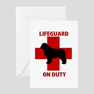 Newfoundland Dog Water Rescue Greeting Card