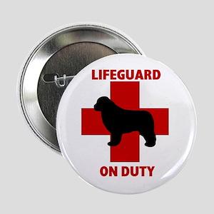 "Newfoundland Dog Water Rescue 2.25"" Button"