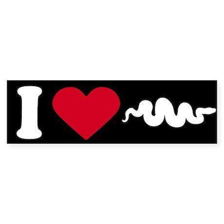 I Love my Snake ~ Bumper Sticker