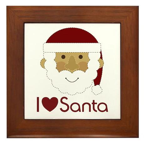 I Heart Santa Framed Tile