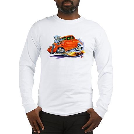 1933-36 Willys Orange Car Long Sleeve T-Shirt
