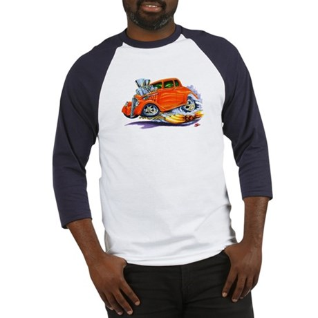 1933-36 Willys Orange Car Baseball Jersey