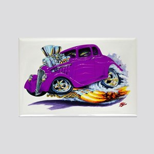1933-36 Willys Purple Car Rectangle Magnet