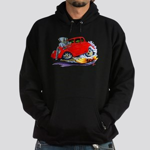 1933-36 Willys Red Car Hoodie (dark)