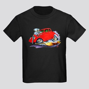 1933-36 Willys Red Car Kids Dark T-Shirt