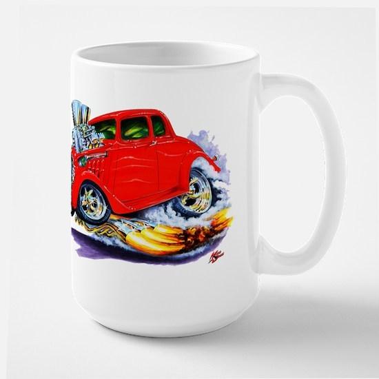 1933-36 Willys Red Car Large Mug