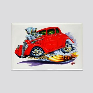1933-36 Willys Red Car Rectangle Magnet