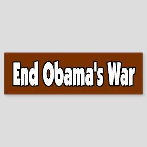 End Obama's War Peace Antiwar Bumper Sticker