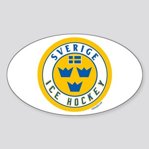 SE Sweden/Sverige Hockey Sticker (Oval)