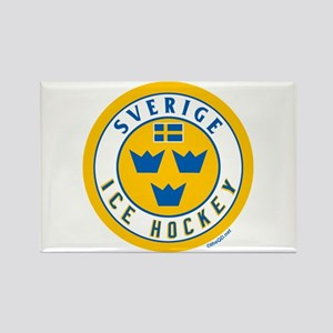 SE Sweden/Sverige Hockey Rectangle Magnet