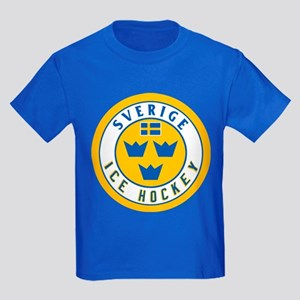 SE Sweden/Sverige Hockey Kids Dark T-Shirt