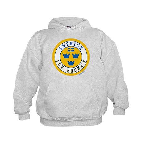 SE Sweden/Sverige Hockey Kids Hoodie