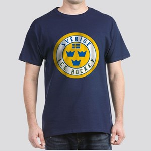 SE Sweden/Sverige Hockey Dark T-Shirt