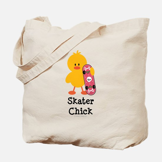 Skater Chick Tote Bag