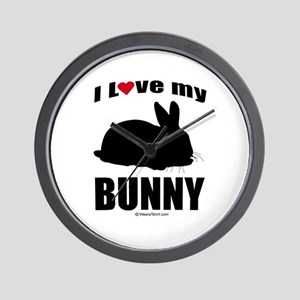 I Love my Bunny ~  Wall Clock