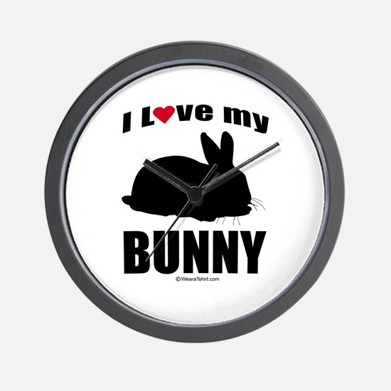 I Love my Bunny ~  Wall Clock