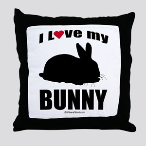 I Love my Bunny ~  Throw Pillow